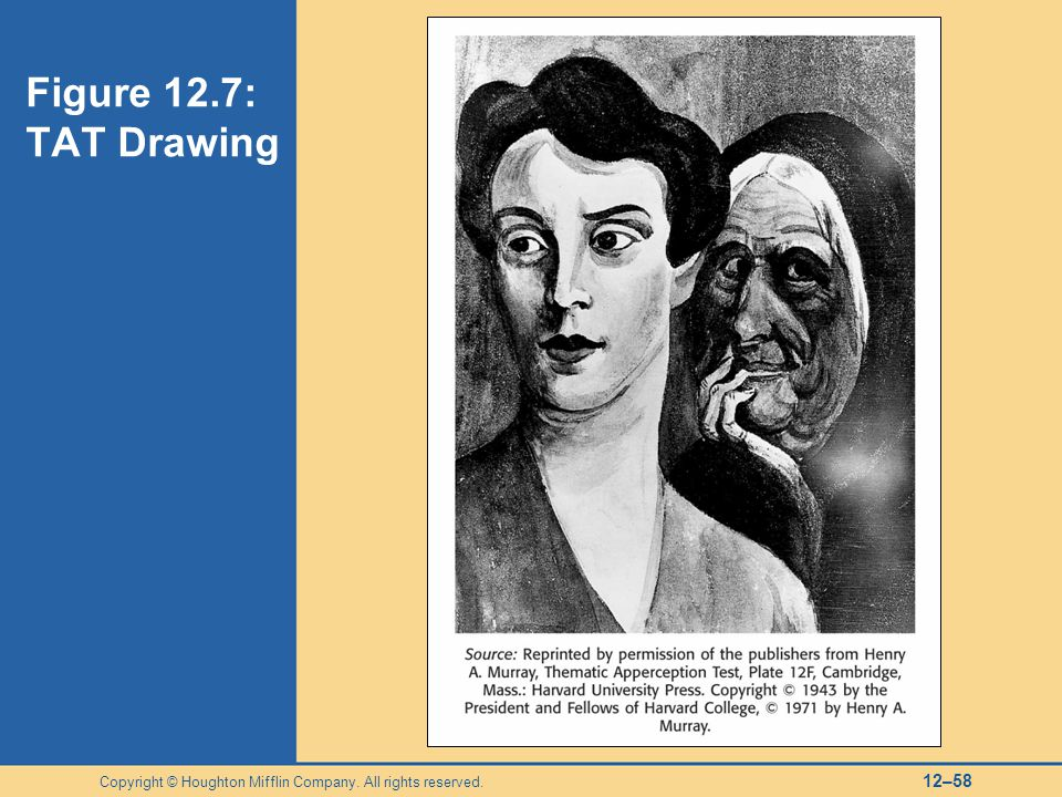 Figure 12.7: TAT Drawing Copyright © Houghton Mifflin Company. All rights reserved.