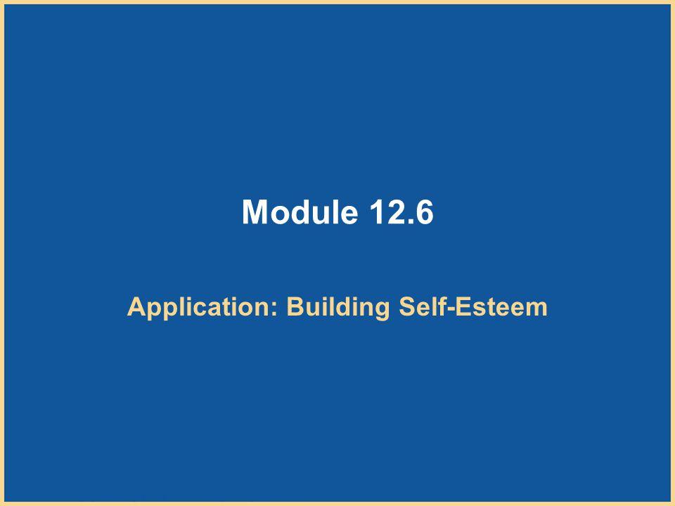 Application: Building Self-Esteem