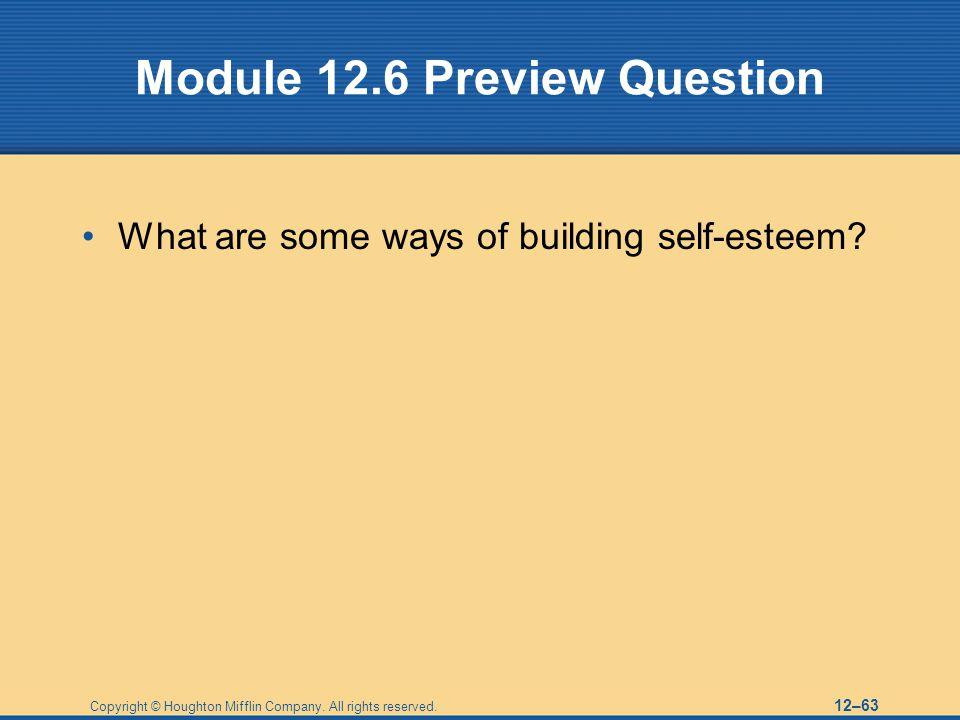 Module 12.6 Preview Question