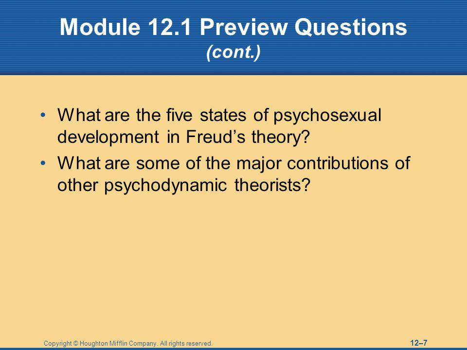 Module 12.1 Preview Questions (cont.)