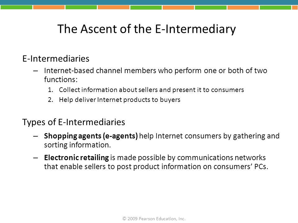 The Ascent of the E-Intermediary