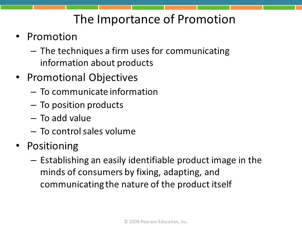 The Importance of Promotion