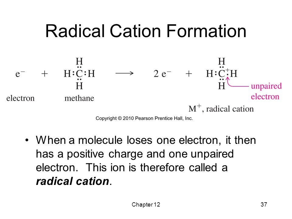 Radical Cation Formation