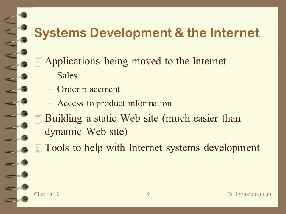 Systems Development & the Internet