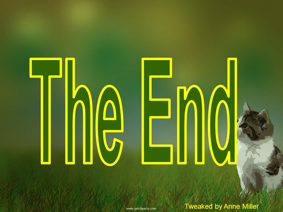 The End Tweaked by Anne Miller