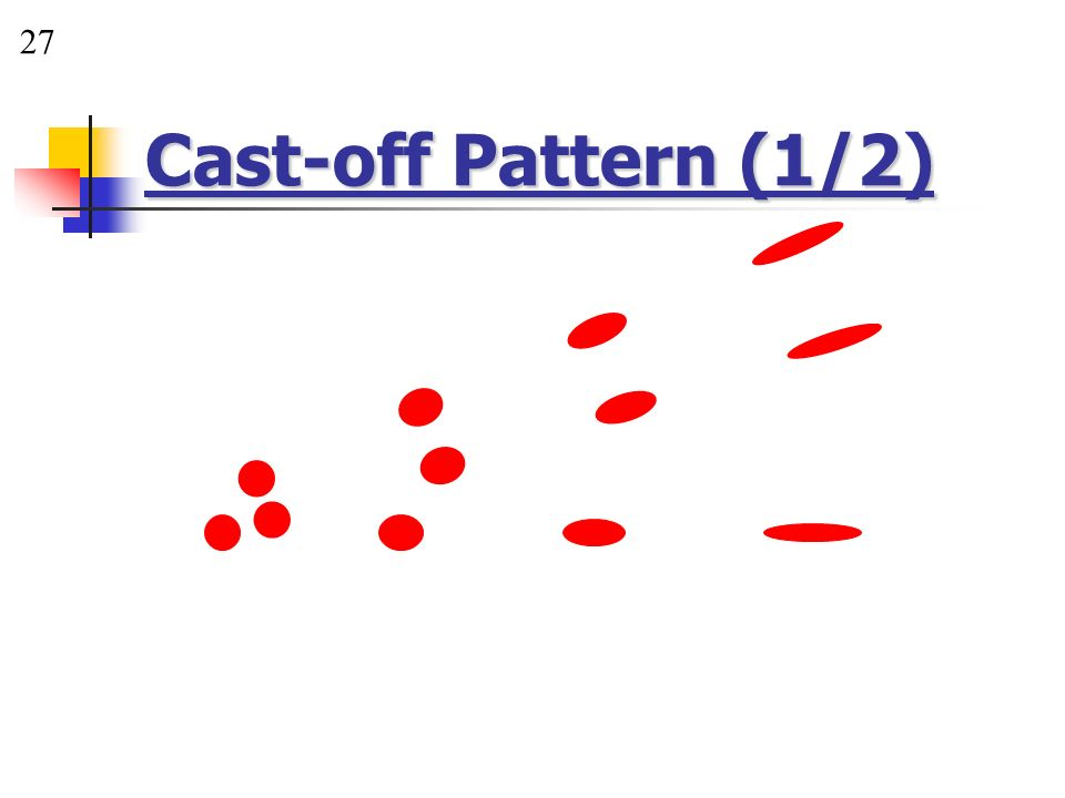 27 Cast-off Pattern (1/2)
