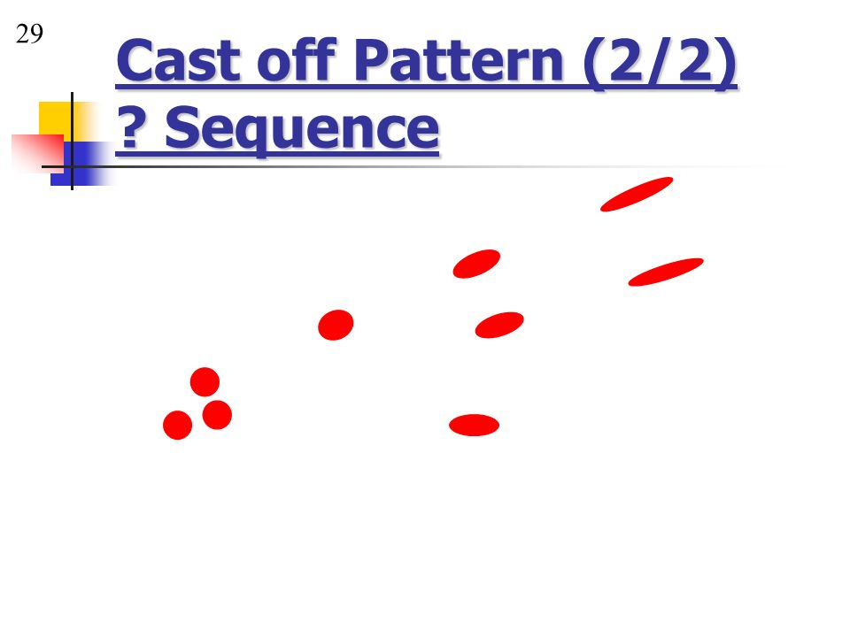 Cast off Pattern (2/2) Sequence