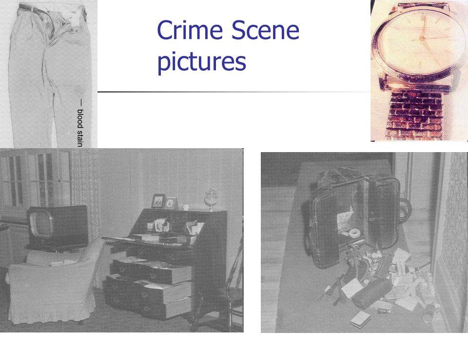 Crime Scene pictures