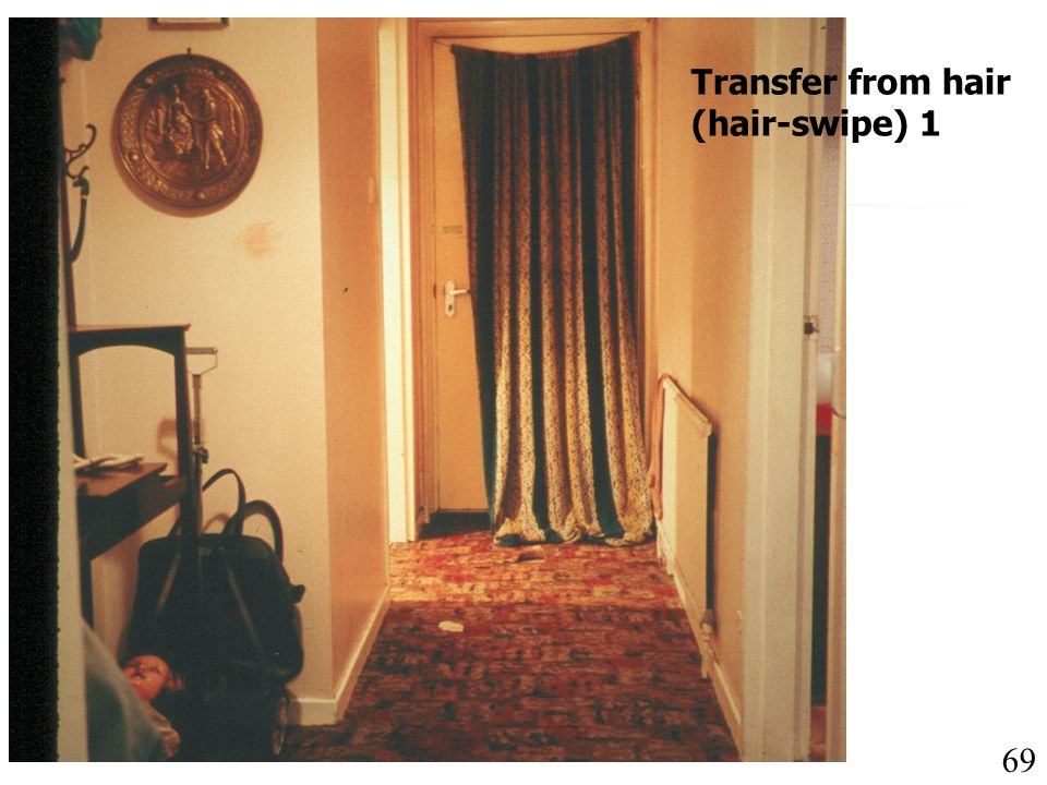 Transfer from hair (hair-swipe) 1