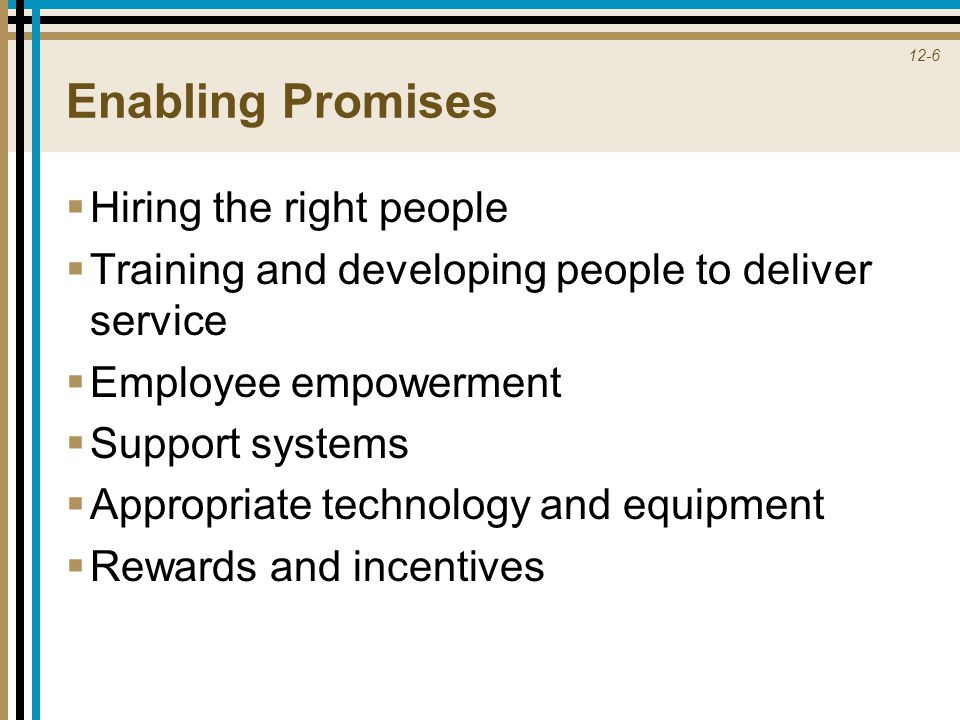 Enabling Promises Hiring the right people