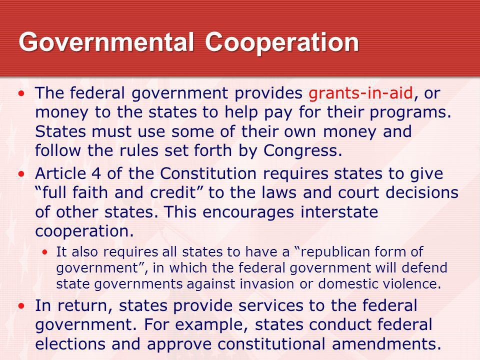 Governmental Cooperation
