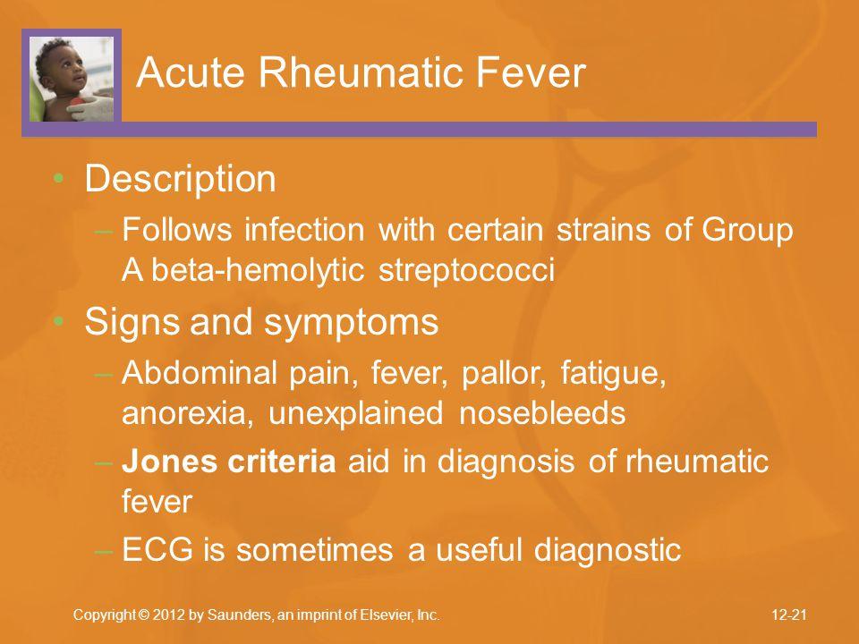 Acute Rheumatic Fever Description Signs and symptoms