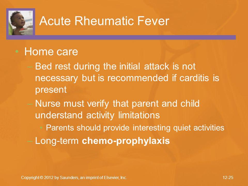 Acute Rheumatic Fever Home care
