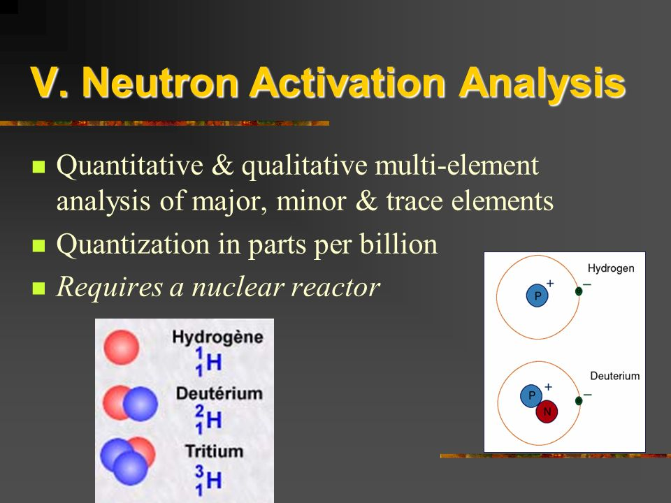V. Neutron Activation Analysis