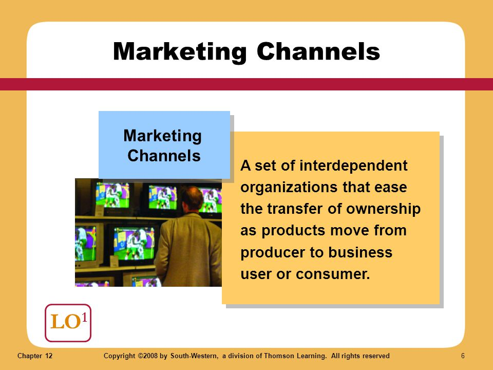 Marketing Channels LO1 Marketing Channels