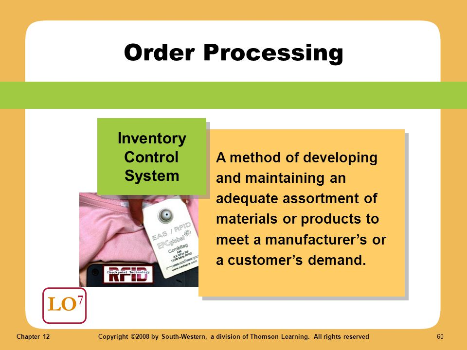 Order Processing LO7 Inventory Control System