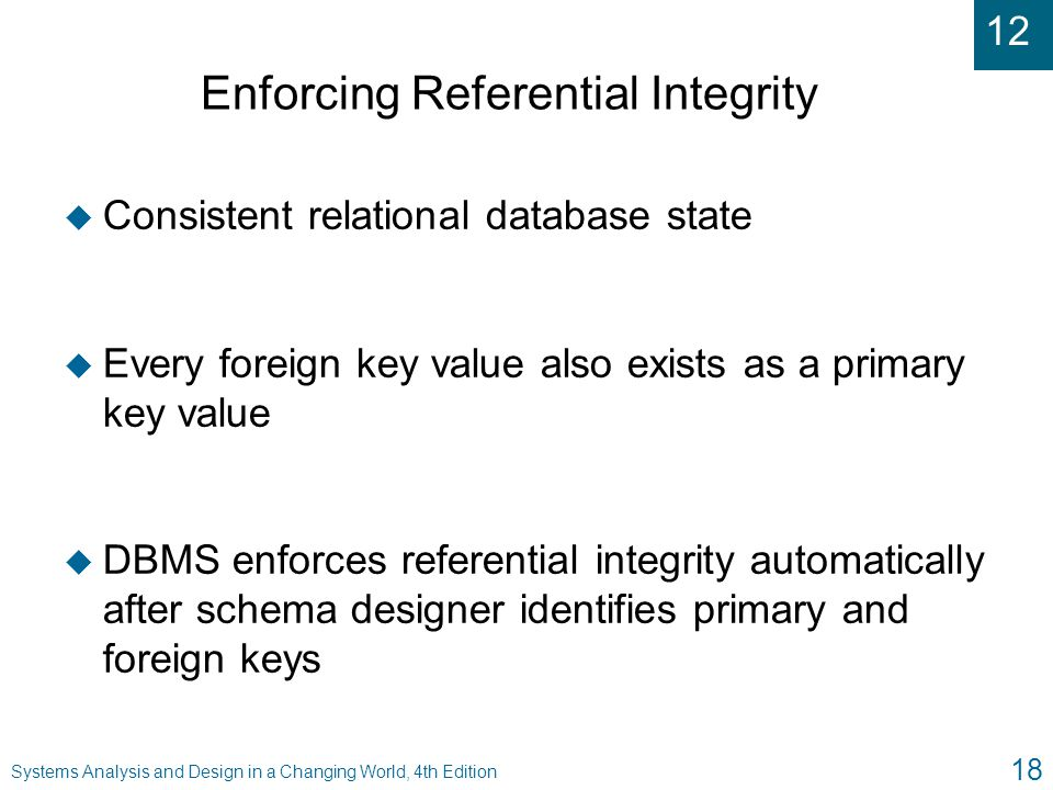 table relationship and enforce referential