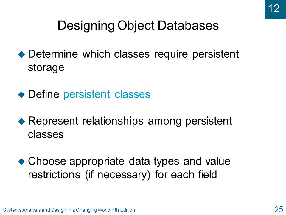 Designing Object Databases