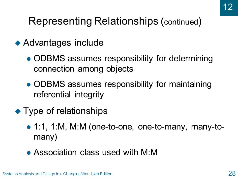 Representing Relationships (continued)