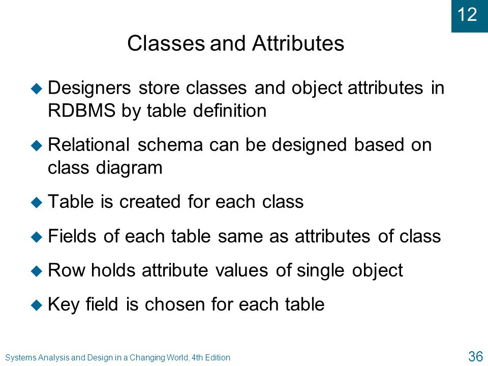 Classes and Attributes