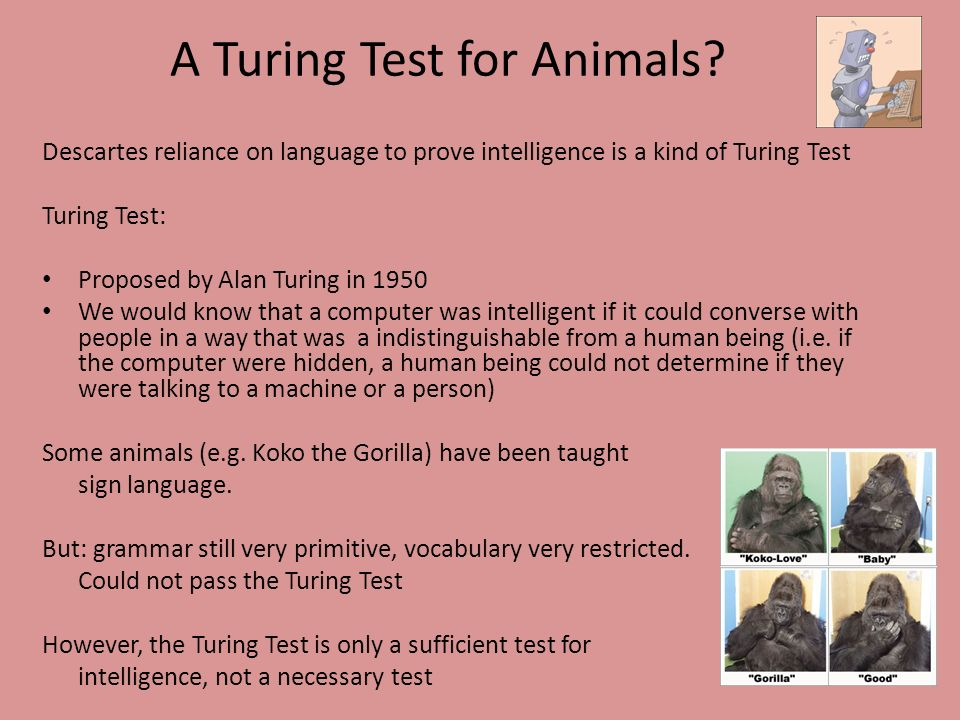 A Turing Test for Animals