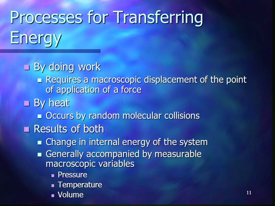 Processes for Transferring Energy