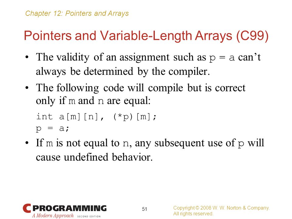Pointers and Variable-Length Arrays (C99)