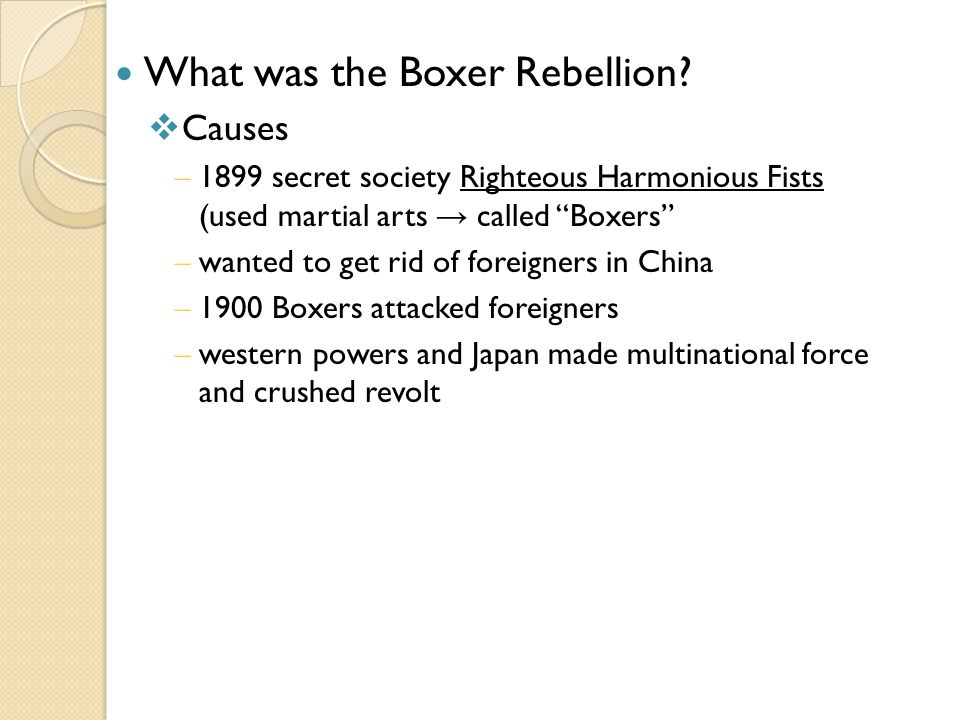 What was the Boxer Rebellion