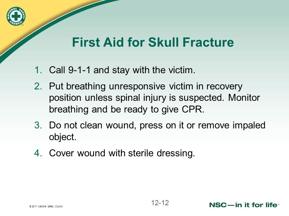 First Aid for Skull Fracture