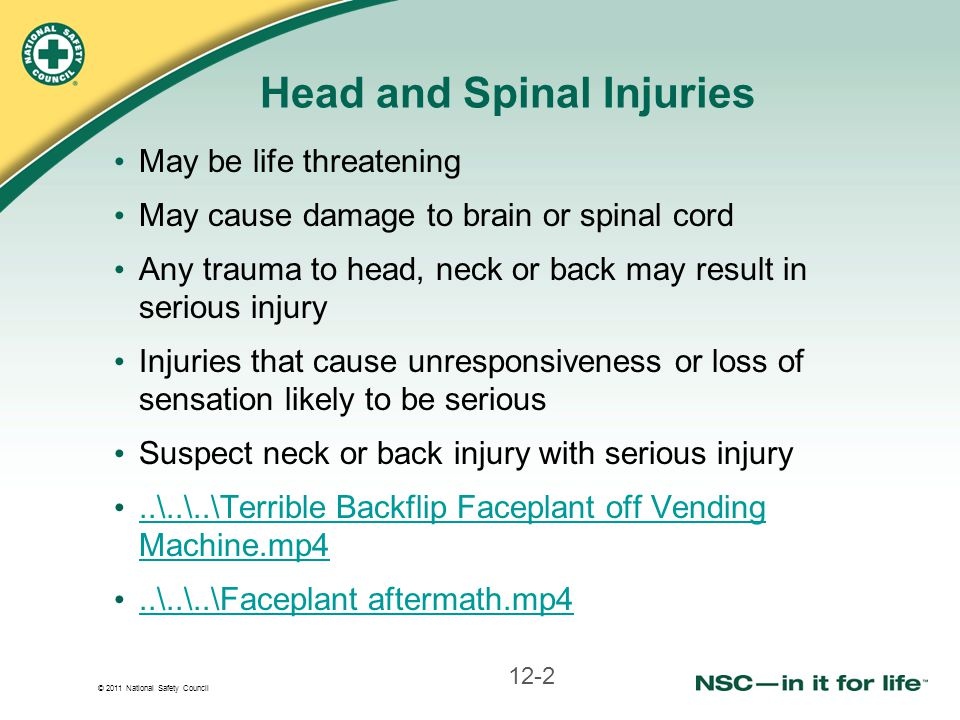 Head and Spinal Injuries