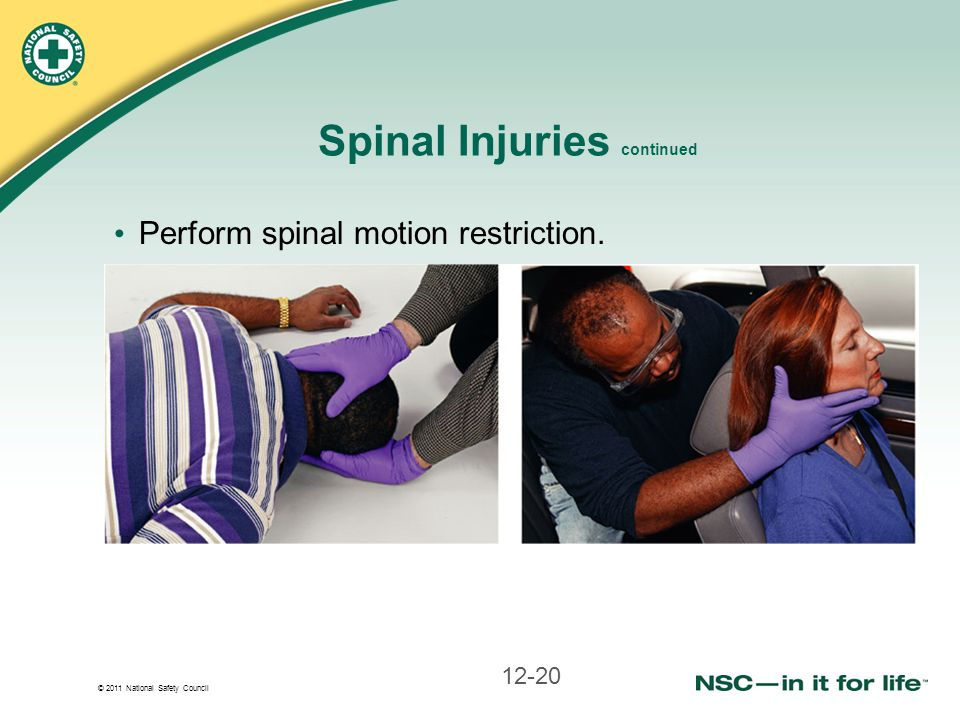 Spinal Injuries continued