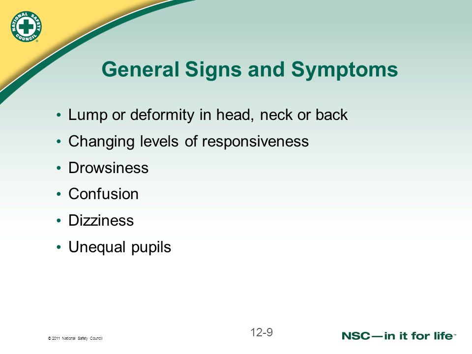 General Signs and Symptoms