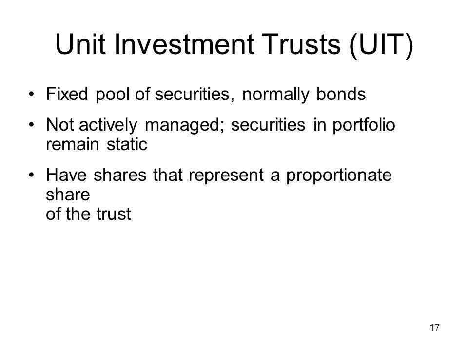 Unit Investment Trusts (UIT)