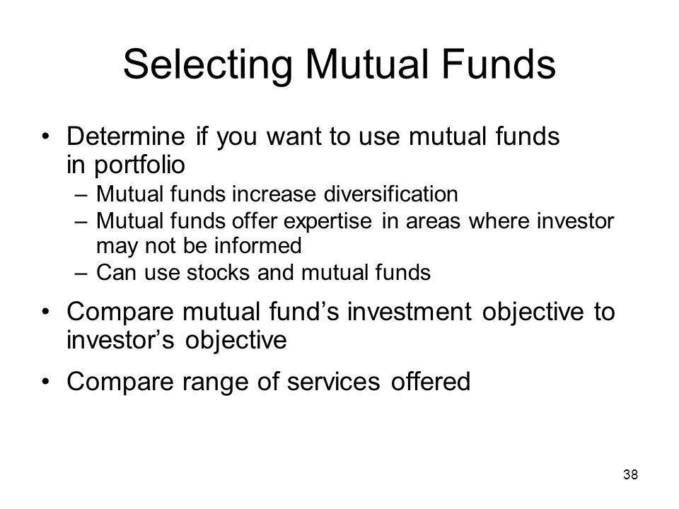 Selecting Mutual Funds