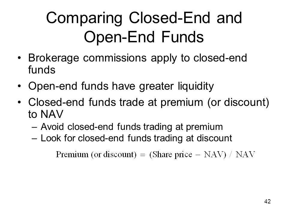 Comparing Closed-End and Open-End Funds