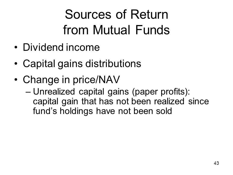 Sources of Return from Mutual Funds