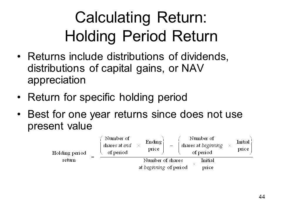 Calculating Return: Holding Period Return