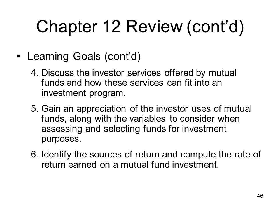 Chapter 12 Review (cont'd)