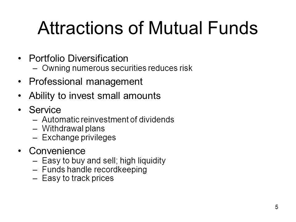 Attractions of Mutual Funds