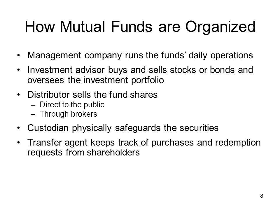 How Mutual Funds are Organized