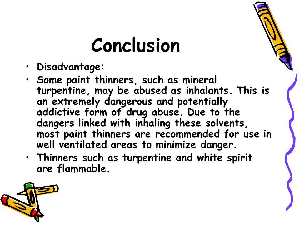 Conclusion Disadvantage:
