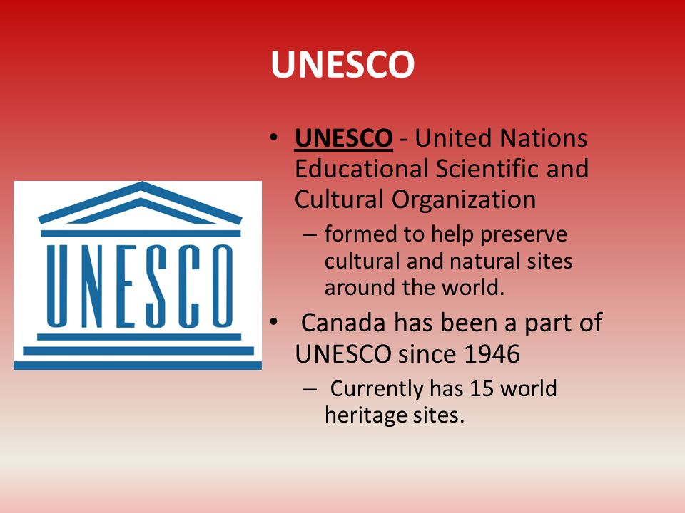 UNESCO UNESCO - United Nations Educational Scientific and Cultural Organization.