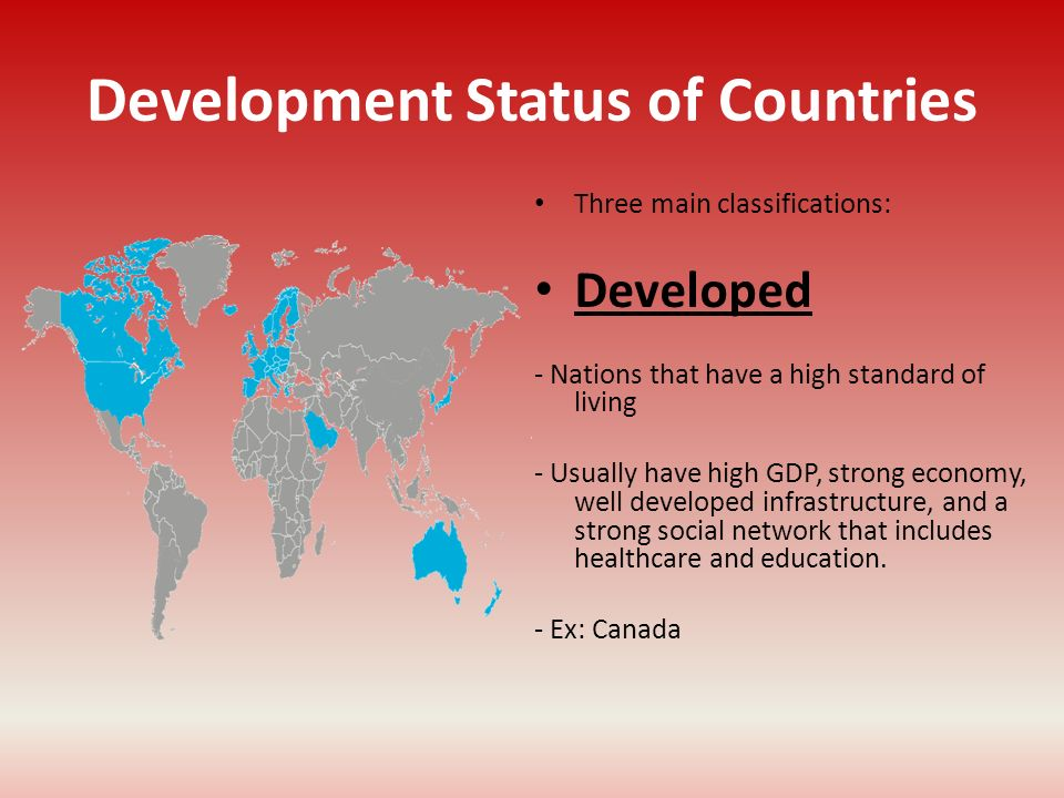 Development Status of Countries