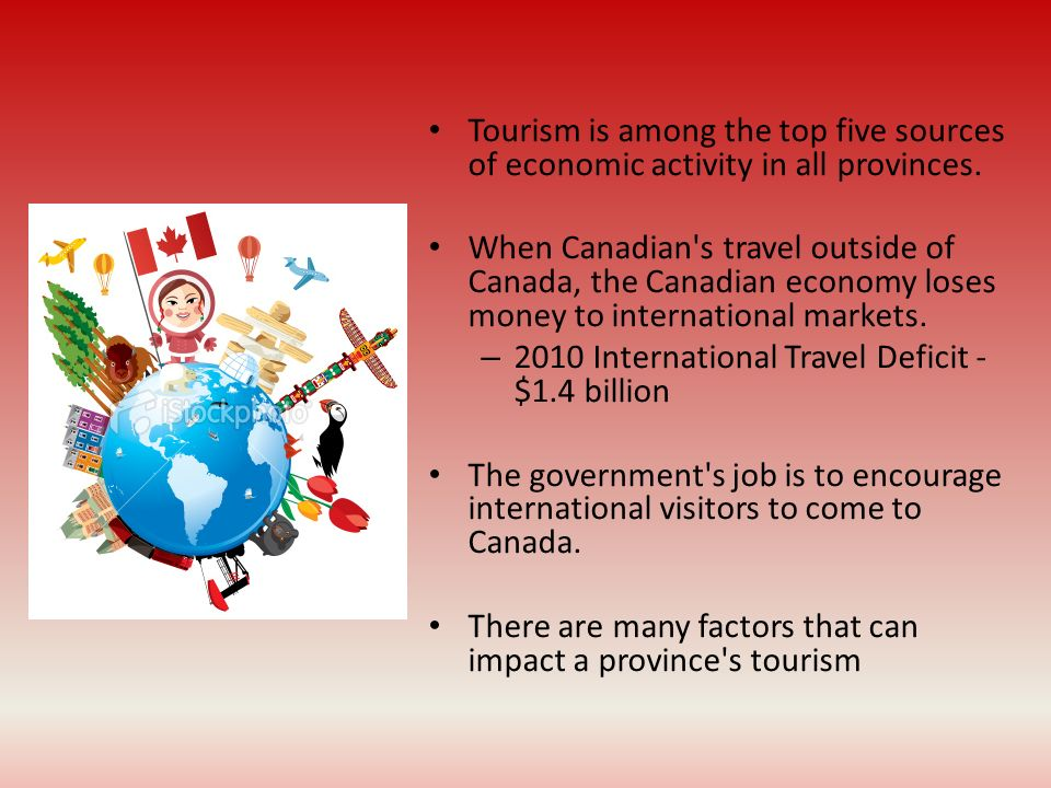 2010 International Travel Deficit - $1.4 billion
