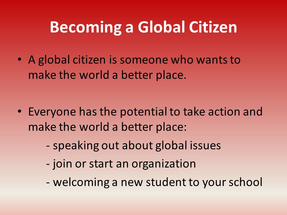 Becoming a Global Citizen