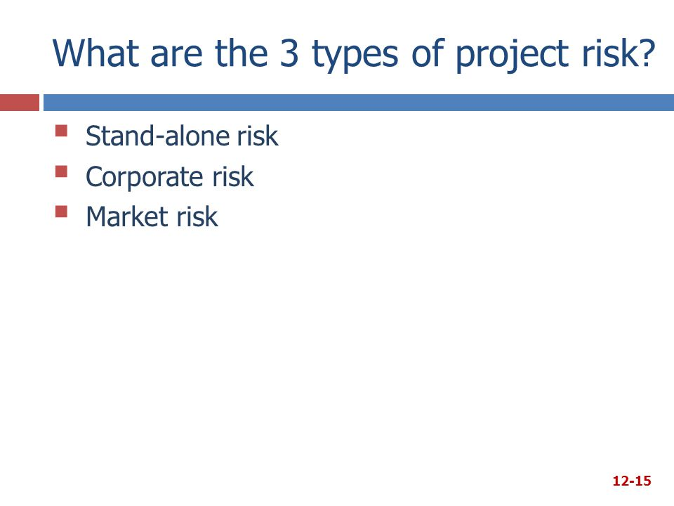 What are the 3 types of project risk