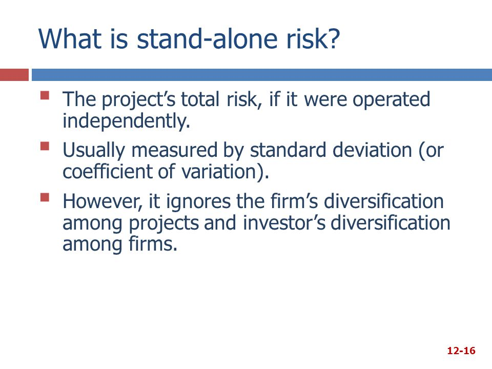 What is stand-alone risk