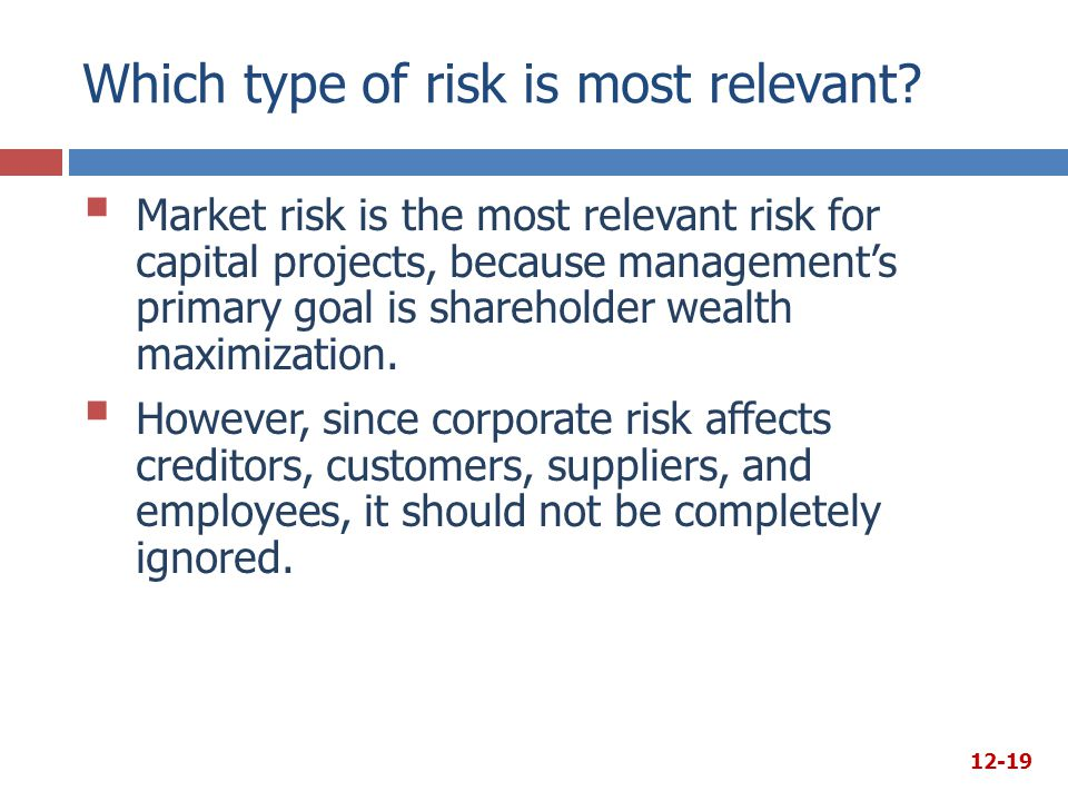 Which type of risk is most relevant