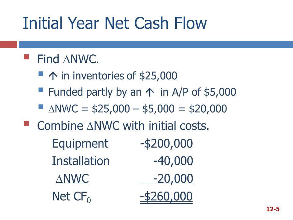 Initial Year Net Cash Flow