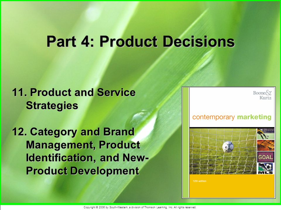 Part 4: Product Decisions